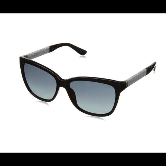 e499ee54bca Jimmy Choo Accessories - Jimmy Choo Cora Crystal-Temple Square Sunglasses
